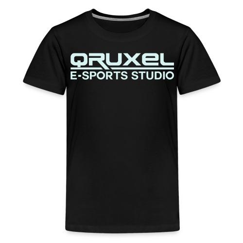 qruxelesportslogo white - Teenage Premium T-Shirt