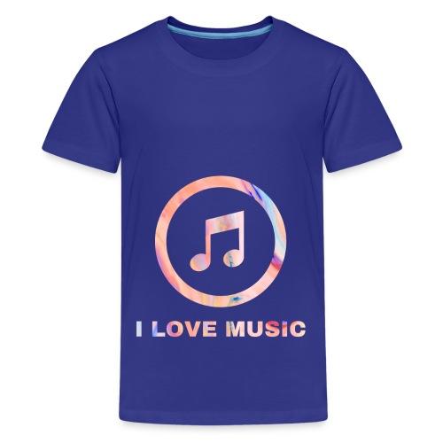 Schlichtes buntes Musik Desgin/Symbol mit Text - Teenager Premium T-Shirt