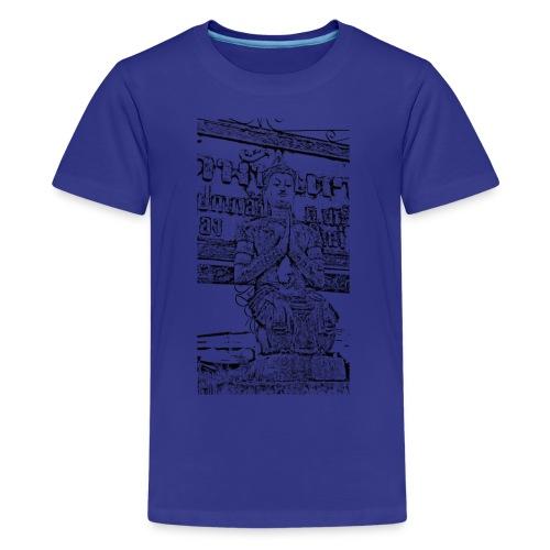 Faded Buddha Tee - Teenager Premium T-Shirt