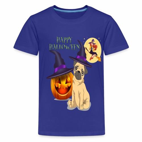 pug halloween - T-shirt Premium Ado