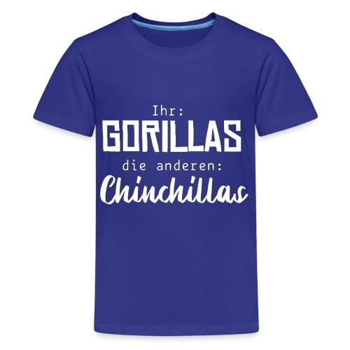 Gorillas vs. Chinchillas - Teenager Premium T-Shirt