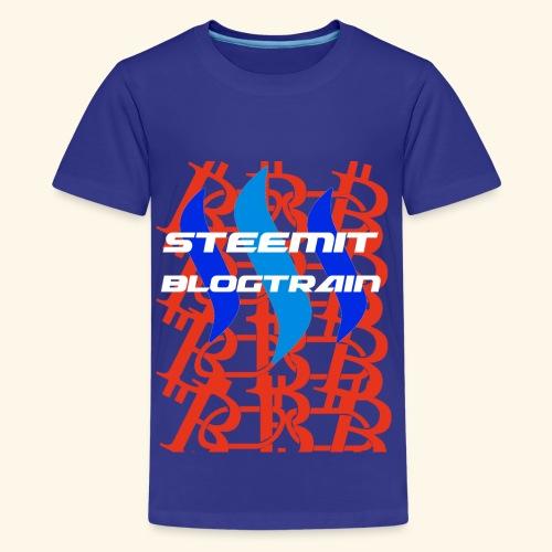 STEEMIT BLOGTRAIN - Teenage Premium T-Shirt