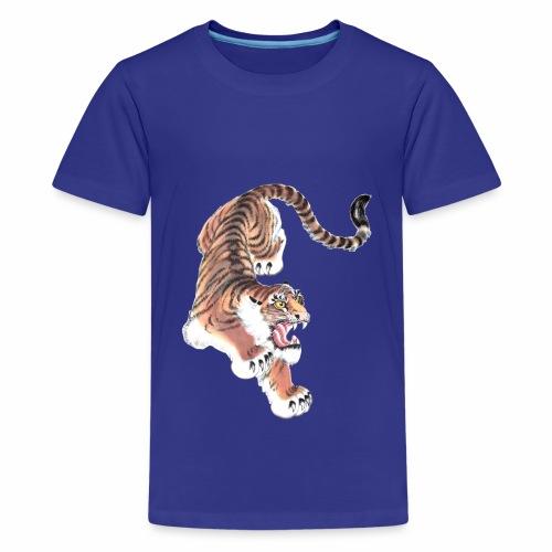 Tiger - Kraft der vier Tiere - Teenager Premium T-Shirt