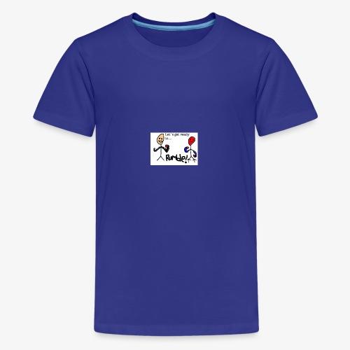 Let`s get ready to rumble! logo - Premium T-skjorte for tenåringer