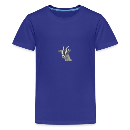 Ziegenkopf schwarzweiss freigestellt - Teenager Premium T-Shirt