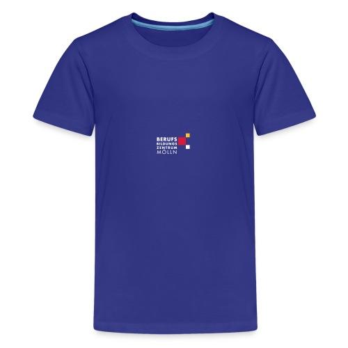 BBZ Logo weisse Schrift Schulkleidung.eps - Teenager Premium T-Shirt