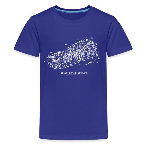 Schwarzkarte Waldbüttelbrunn, weiß - Teenager Premium T-Shirt