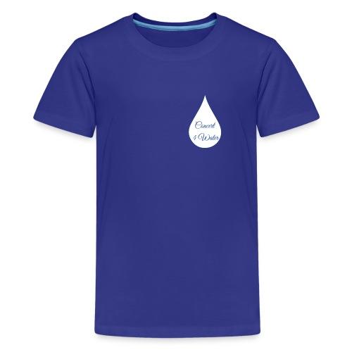 Concert 4 Water's Image Logo - Teenage Premium T-Shirt