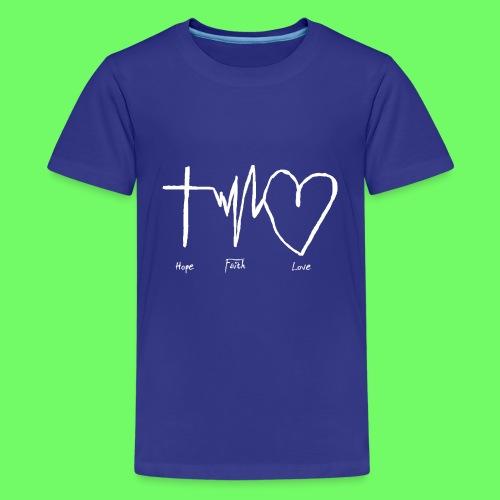 Hoffnung Glaube Liebe - hope faith love - Teenager Premium T-Shirt
