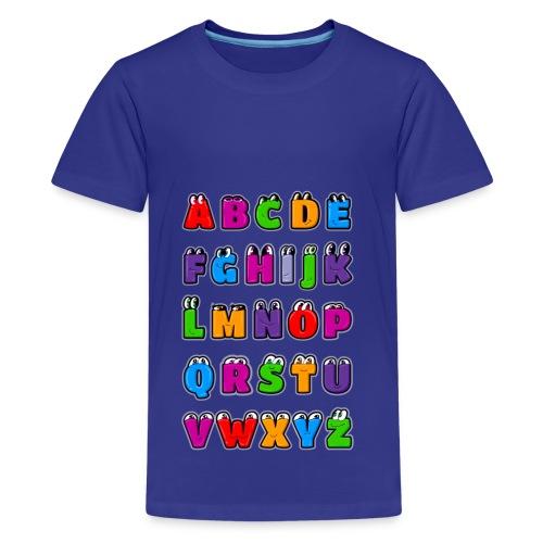 Letras del alfabeto Kawaii ABC para niños. Dibujos - Camiseta premium adolescente