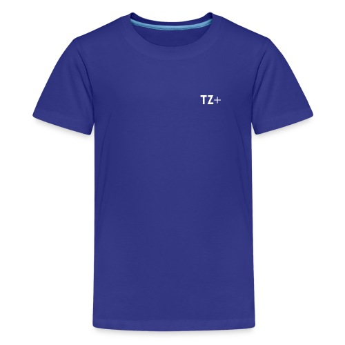 TZ+ white logo - Teenage Premium T-Shirt