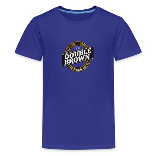 double brown beer - Teenage Premium T-Shirt
