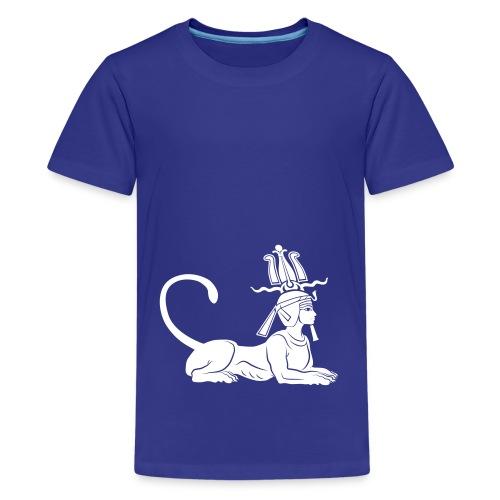 Ägyptische Sphinx - Teenager Premium T-Shirt