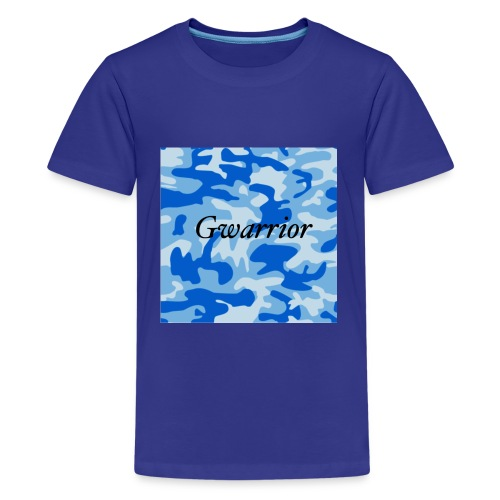 GWARRIOR BLUE CAMMO TSHIRT - Teenage Premium T-Shirt