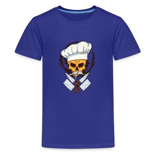 Chefkoch Totenkopf - Gekreuzte Messer - Teenager Premium T-Shirt