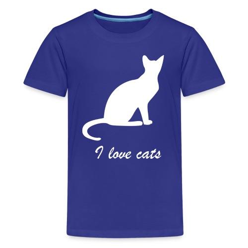 i love cats - Teenager Premium T-Shirt