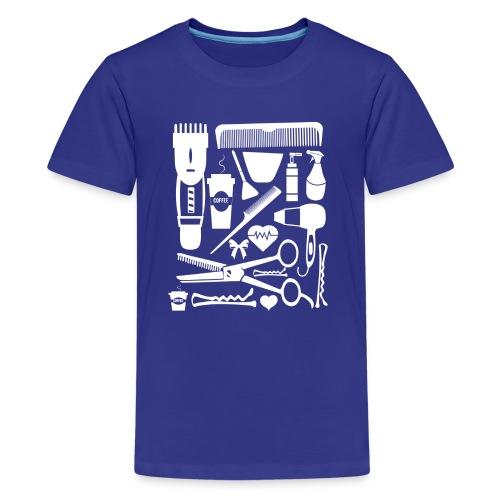Friseur Frisör Hairstylist Haare Friseurmeister - Teenager Premium T-Shirt