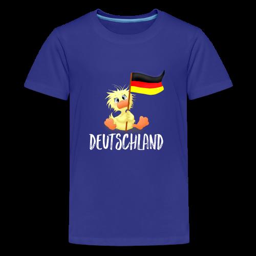 WEmmi Deutschland - Schrift in Weiß - Teenager Premium T-Shirt
