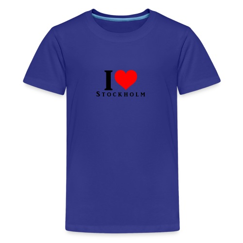 I love Stockholm - Teenager Premium T-Shirt