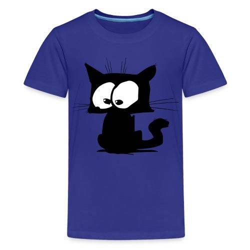 Black Cat 01 - T-shirt Premium Ado