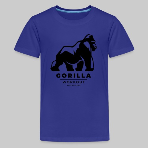 Gorilla Workout by Bodymovez - Teenager Premium T-Shirt