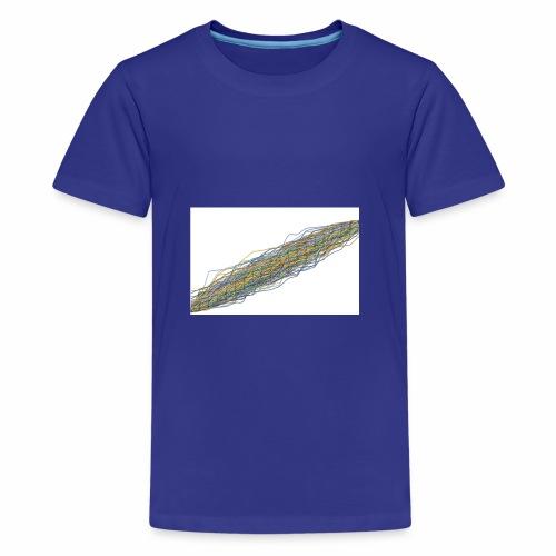 Line Chart - Teenager Premium T-shirt