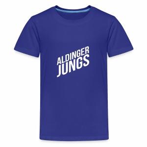 Aldinger Jungs. Weiß - Teenager Premium T-Shirt