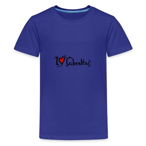 I Love Gibraltar - Teenage Premium T-Shirt