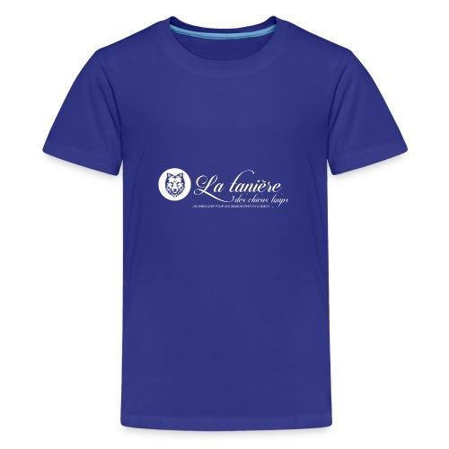 La Tanière des Chiens-Loups (logo plus grand) - T-shirt Premium Ado