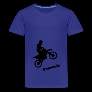 Motorrad im Wheelie - Teenager Premium T-Shirt