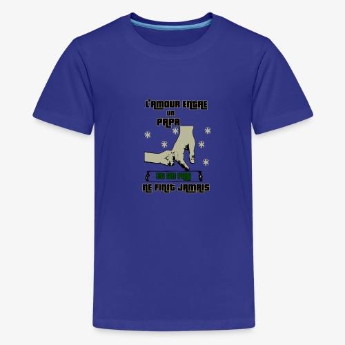 L'amour Entre Papa Et Un fils T-SHIRT - T-shirt Premium Ado