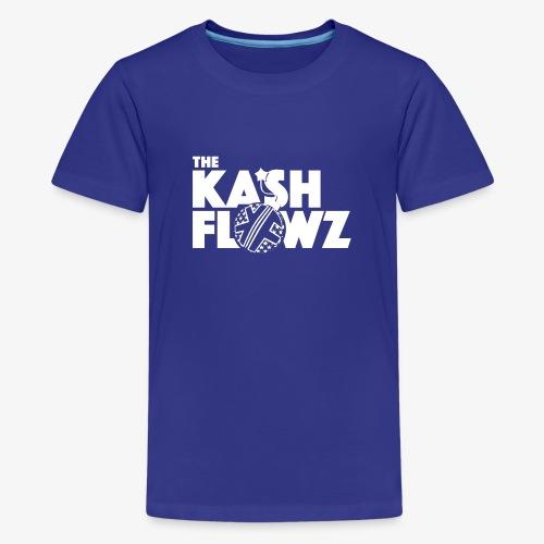 The Kash Flowz Official Bomb White - T-shirt Premium Ado