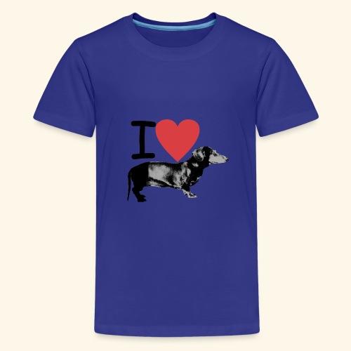 Pakopaka - I Love Dachshunds - Teenager Premium T-Shirt