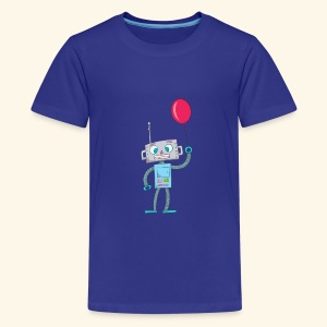 Cute Robot Kids Tees - Teenage Premium T-Shirt