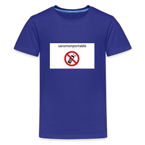 Sans mon portable n°1 - T-shirt Premium Ado