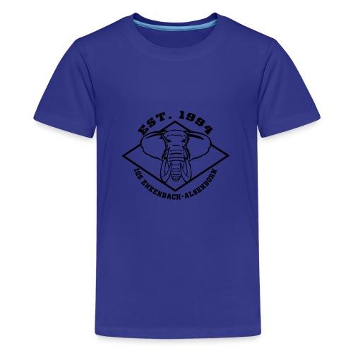 Elefant Logo schwarz - Teenager Premium T-Shirt