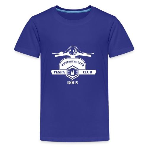 RheinSchalter (gross/weiss) - Teenager Premium T-Shirt