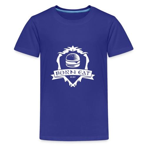 Born To Eat Logo white - Teenager Premium T-Shirt