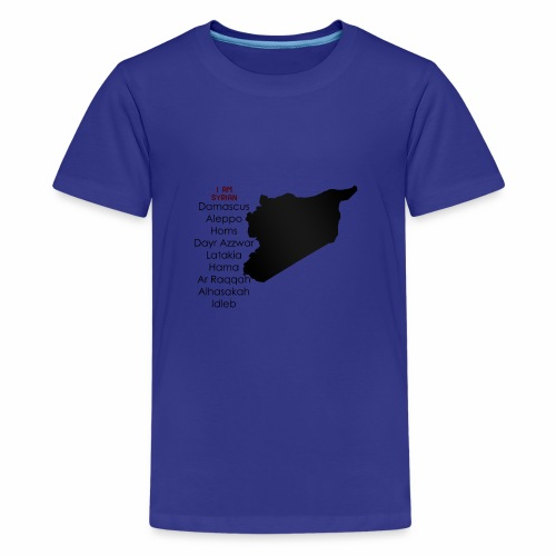 i am syrian - Teenager Premium T-Shirt