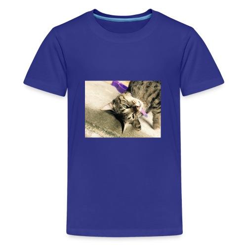 Gatito diseño de almuadilla para ratón - Camiseta premium adolescente