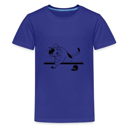 katze billiard - Teenager Premium T-Shirt