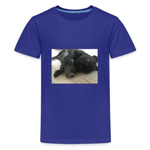 kuschelnder Hund - Teenager Premium T-Shirt