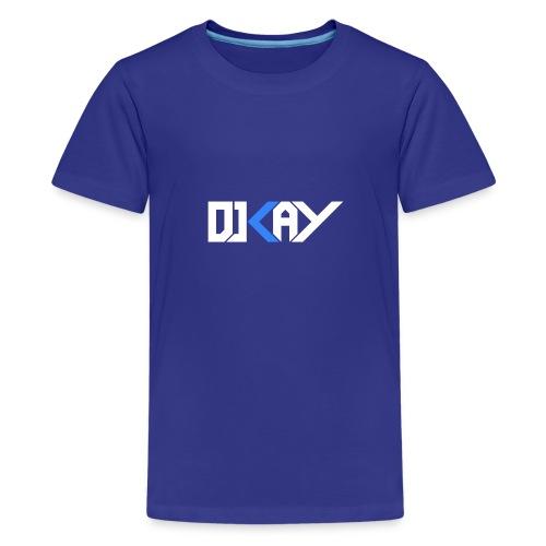 DJ KAY blanc transparent - T-shirt Premium Ado
