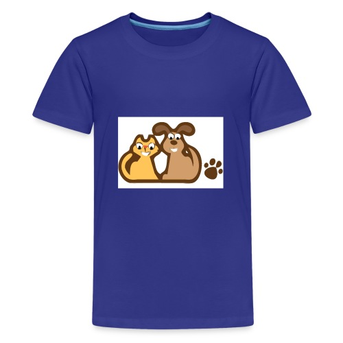Katze&Hund - Teenager Premium T-Shirt