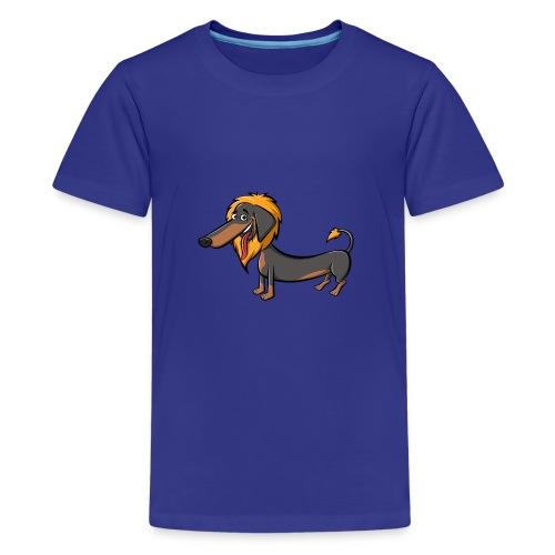 daschundtransparency 2 - Teenager Premium T-Shirt