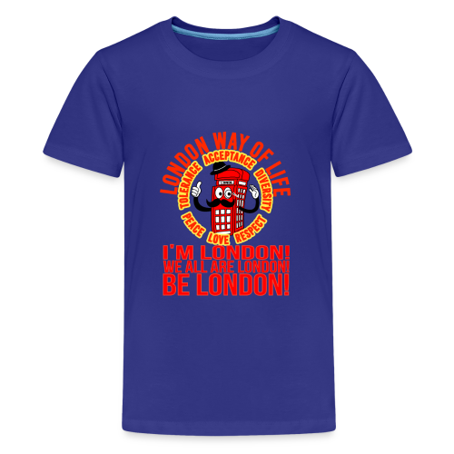 Londi London Mascot Design No 10 - Teenage Premium T-Shirt