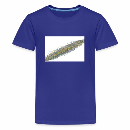 Line Chart - Teenager Premium T-shirt