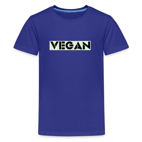 VEGAN IN BOLD - Teenage Premium T-Shirt