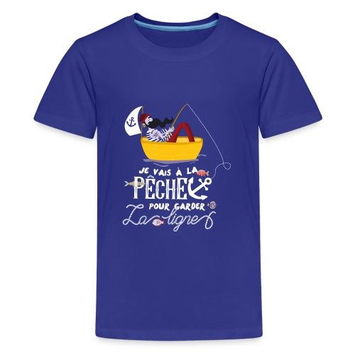 pêche pêcheur bateau barque poisson voilier ancre - T-shirt Premium Ado
