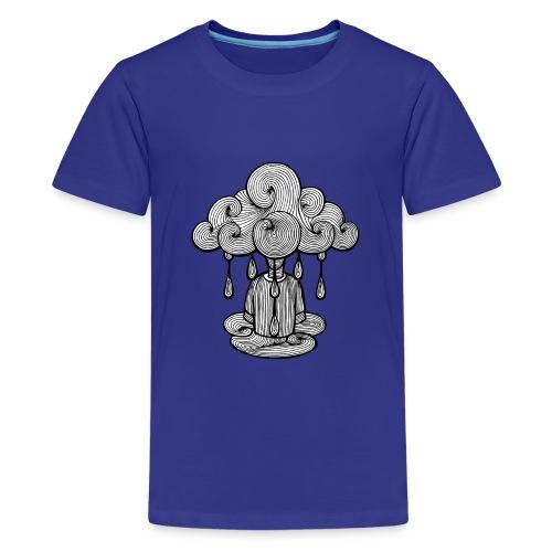 nuage lundi pluie, le lundi c'est nul... - T-shirt Premium Ado